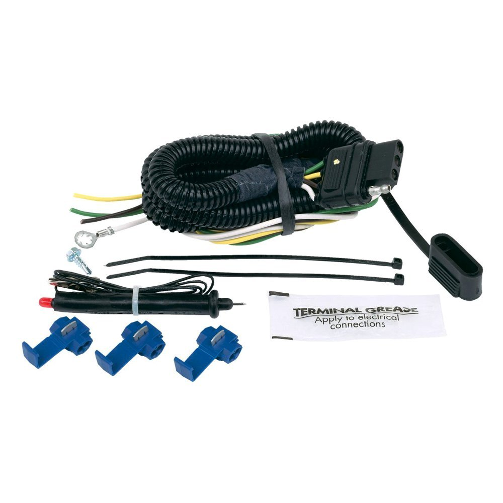 Connect Your Car Lights To Trailer The Easy Way Old Light Wiring Diagram Two Hopkins 46105 Flat Universal Connector Kit