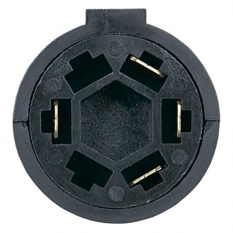 Hopkins® - 7-Way RV Blade to 4-Wire Flat Adapter with Built-In LED Tester