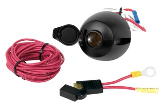 Hopkins® - 12-Volt Power Socket with 17' Power Wire and Fuse Assembly