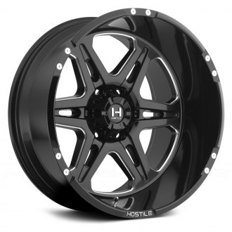 HOSTILE® - HAVOC Satin Black with Milled Accents - 6 Lug Style