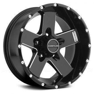 HOSTILE® - MOAB Satin Black with Milled Accents - 5 Lug Style