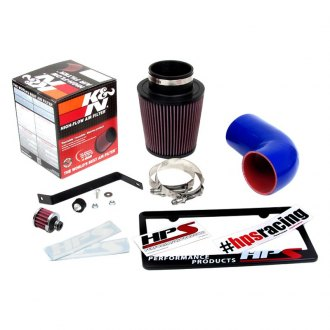 HPS® - Rubber Short Ram Air Intake System with Red Filter