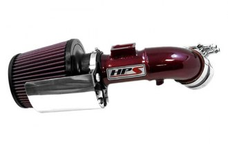 HPS Silicone Hoses® 27-163R - Powder Coated Red Short Ram Air Intake with Heat Shield