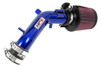 HPS Silicone Hoses® 27-173BL - Powder Coated Blue Short Ram Air Intake with Heat Shield