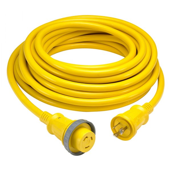 Hubbell® - 50' 30A Yellow Cordset with LED