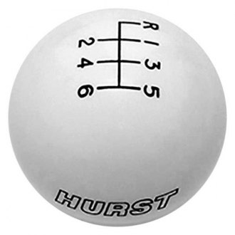 Hurst Shifters® - Manual Round Style 6-Speed Pattern White Shift Knob