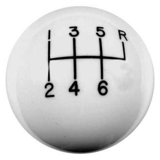 Hurst Shifters® - 6- Speed White Shift Knob