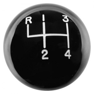 Hurst Shifters® - Manual Round Style 4-Speed Pattern Black Shift Knob