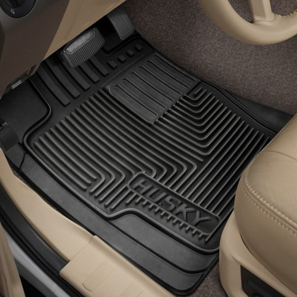 Husky Liners®   Heavy Duty 1st Row Black Floor Mats