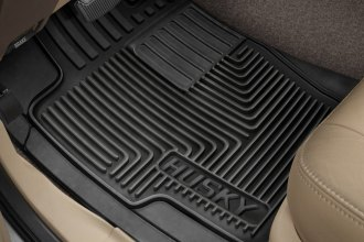 Image may not reflect your exact vehicle! Husky Liners® - Heavy Duty 1st Row Black Floor Mats