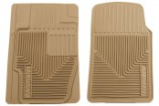 Husky Liners® - Heavy Duty 1st Row Tan Floor Mats