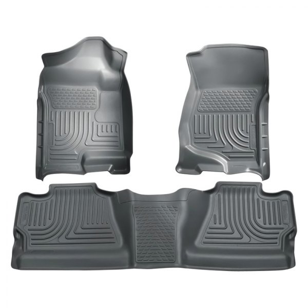 Husky Liners® - WeatherBeater™ Floor Liners - 1st and 2nd Rows, Gray