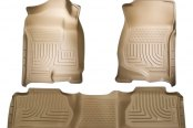 Husky Liners® - WeatherBeater™ Floor Liners - 1st and 2nd Rows, Tan