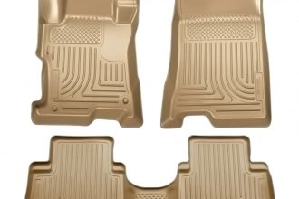 Husky Liners® 98403 - WeatherBeater™ Floor Liners (1st and 2nd Rows, Tan)