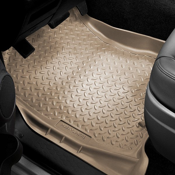 Image may not reflect your exact vehicle! Husky Liners® - Classic Style™ 1st Row Tan Floor Liners