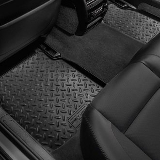 Image may not reflect your exact vehicle! Husky Liners® - Classic Style™ Floor Liners - 2nd Row, Black