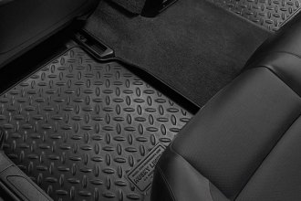 Image may not reflect your exact vehicle! Husky Liners® - Classic Style™ 2nd Row Black Floor Liners