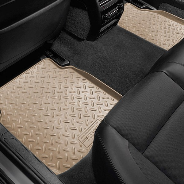 Image may not reflect your exact vehicle! Husky Liners® - Classic Style™ Floor Liners - 2nd Row, Tan