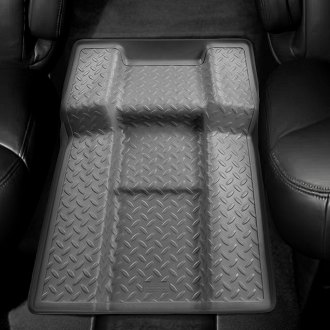 Image may not reflect your exact vehicle! Husky Liners® - Classic Style™ Floor Liners - Walkway Between Bucket Seats, Gray