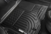 Image may not reflect your exact vehicle! Husky Liners® - WeatherBeater™ 1st & 2nd Row Black Floor Liners