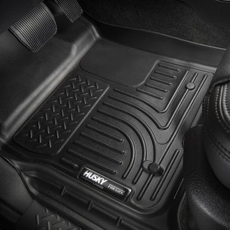 Husky Liners® - WeatherBeater™ 1st and 2nd Rows Black Floor Liners