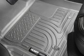 Image may not reflect your exact vehicle! Husky Liners® - WeatherBeater™ Floor Liners - 1st and 2nd Rows, Gray