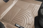 Image may not reflect your exact vehicle! Husky Liners® - WeatherBeater™ Floor Liners - 1st and 2nd Rows, Tan