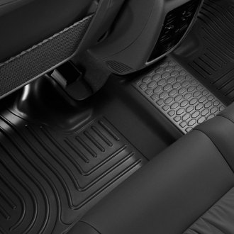 Image may not reflect your exact vehicle! Husky Liners® - WeatherBeater™ Floor Liners - 2nd Row, Black