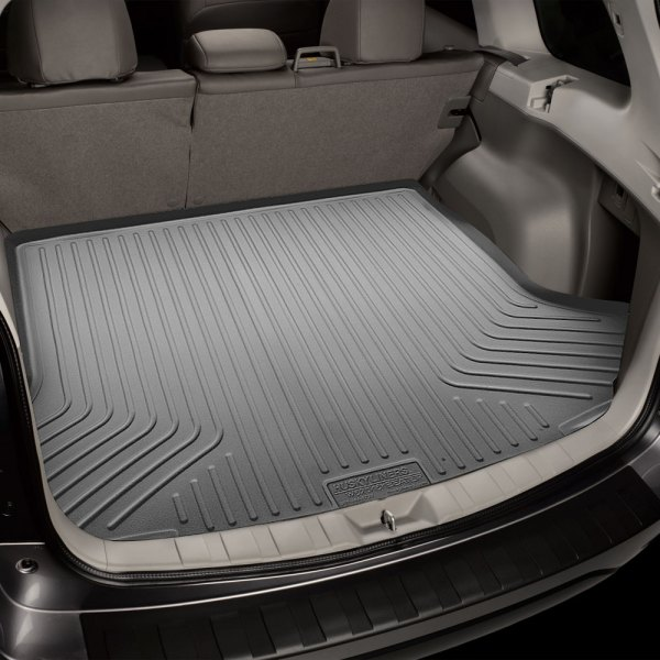 Image may not reflect your exact vehicle! Husky Liners® - WeatherBeater™ Cargo Liner - Gray