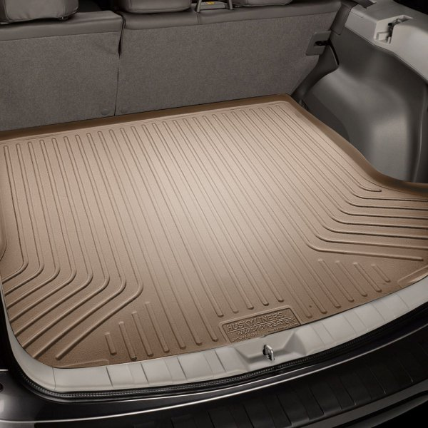 Image may not reflect your exact vehicle! Husky Liners® - WeatherBeater™ Cargo Liner - Tan