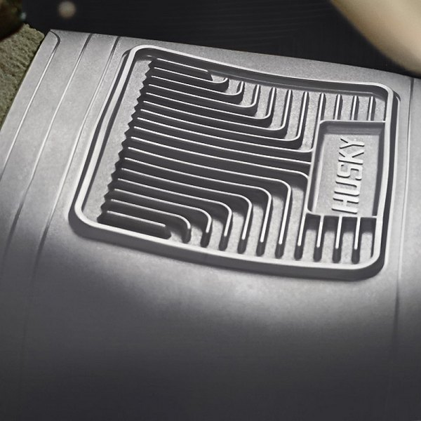 Image may not reflect your exact vehicle! Husky Liners® - Heavy Duty Floor Mats - Center Hump Area, Gray