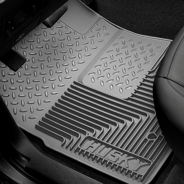 Image may not reflect your exact vehicle! Husky Liners® - Heavy Duty 1st Row Gray Floor Mats