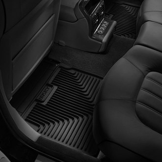 Image may not reflect your exact vehicle! Husky Liners® - Heavy Duty Floor Mats - 2nd Row, Black