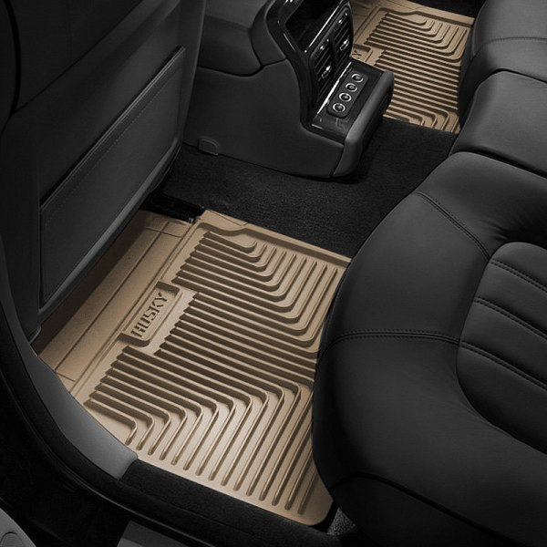 Image may not reflect your exact vehicle! Husky Liners® - Heavy Duty 2nd Row Tan Floor Mats