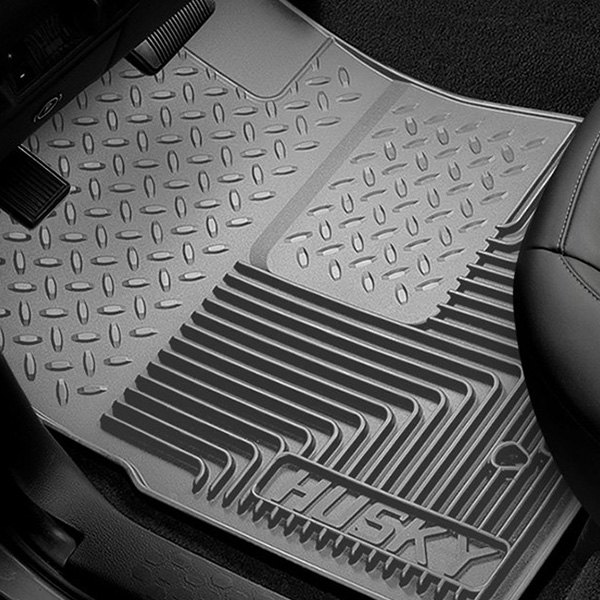 Image may not reflect your exact vehicle! Husky Liners® - 1st Row Gray Heavy Duty Floor Mats
