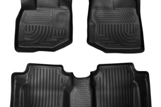 Husky Liners® 98491 - WeatherBeater™ Floor Liners (1st and 2nd Rows, Black)