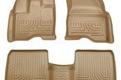 Husky Liners® - WeatherBeater™ 1st & 2nd Row Tan Floor Liners