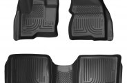 Husky Liners® 98741 - WeatherBeater™ Floor Liners (1st and 2nd Rows, Black)