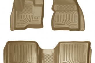 Husky Liners® 98743 - WeatherBeater™ Floor Liners (1st and 2nd Rows, Tan)