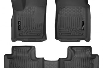 Husky Liners® 99051 - WeatherBeater™ Floor Liners (1st and 2nd Rows, Black)