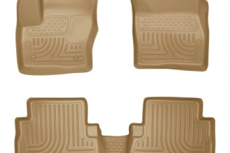 Husky Liners® 99743 - WeatherBeater™ Floor Liners (1st and 2nd Rows, Tan)