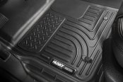 Image may not reflect your exact vehicle! Husky Liners® - 1st Row Black WeatherBeater Floor Liners