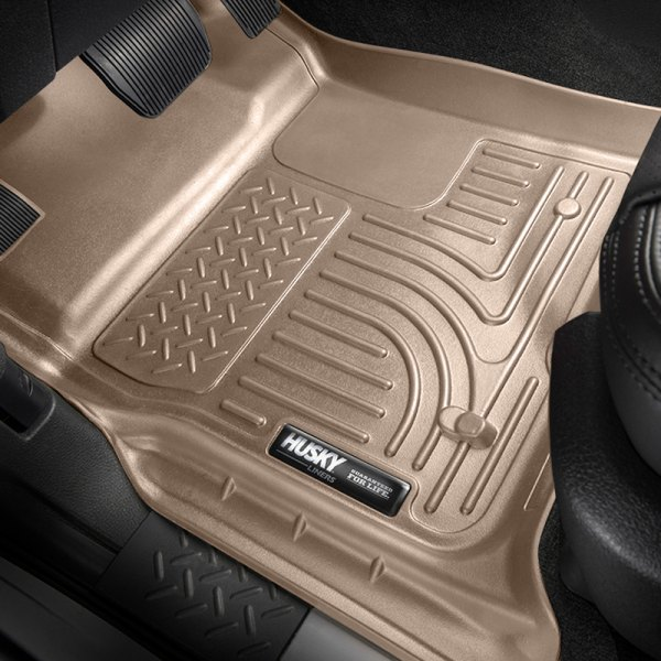 Husky Liners® - 1st Row Tan WeatherBeater Floor Liners