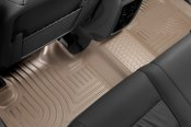 Image may not reflect your exact vehicle! Husky Liners® - 2nd Row Tan WeatherBeater Floor Liners