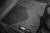 Image may not reflect your exact vehicle! Husky Liners® - 1st Row Black X-Act Contour Floor Liners