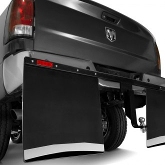 Husky Liners® - Black Hitch Mounted Mud Flaps