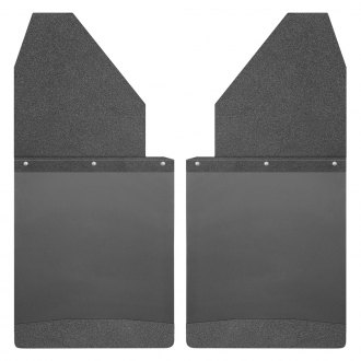 "Husky Liners® - Kickback 14"" Wide Mud Flaps with Black Top and Weight"