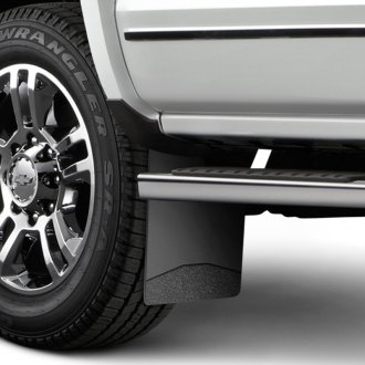 Husky Liners® - Black Mud Flaps with Textured Black Weight