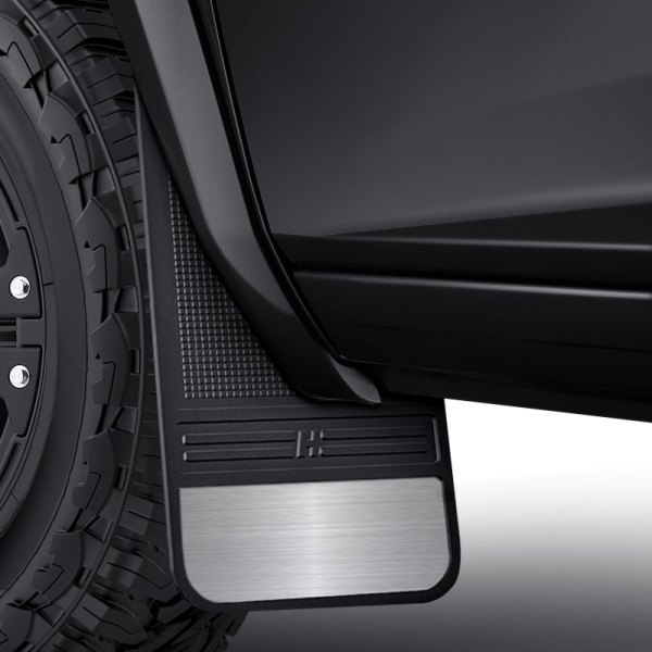 Husky Liners® - MudDog™ Black Mud Flaps with Stainless Steel Weight