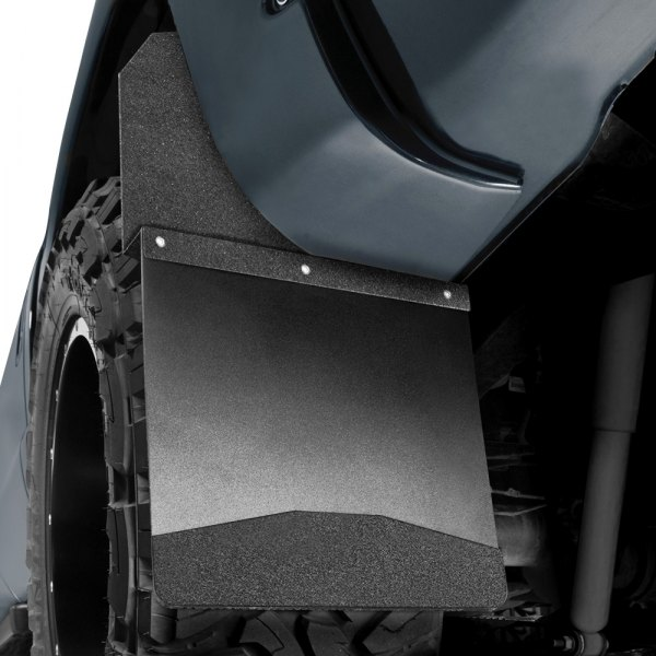 Image may not reflect your exact vehicle! Husky Liners® - Kickback™ Mud Flaps with Black Top and Black Weight